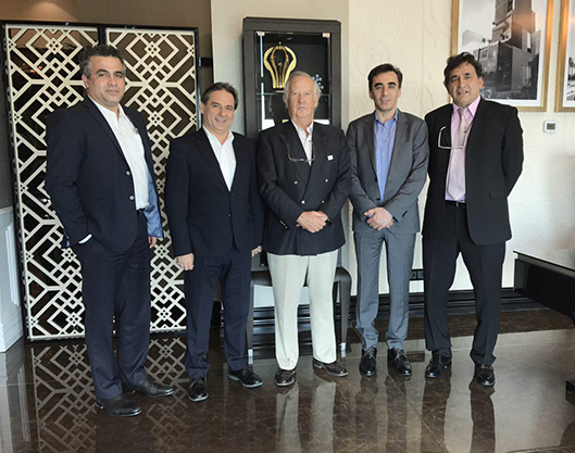 Professor Marcial Echenique, former head of the School of Architecture of the University of Cambridge and Cambridge university professor paying a visit to BAM group